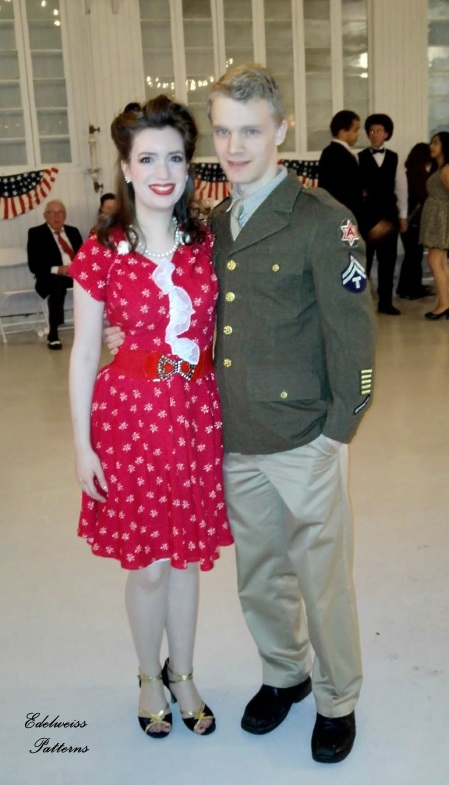 A 1940s Dress For A Wwii Dance Edelweiss Patterns Blog
