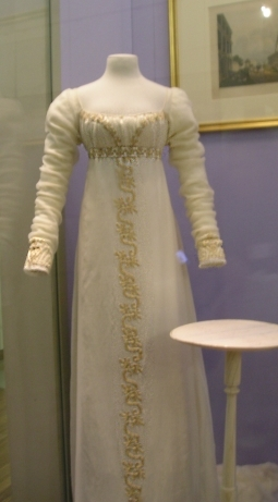 early 1800s evening gown