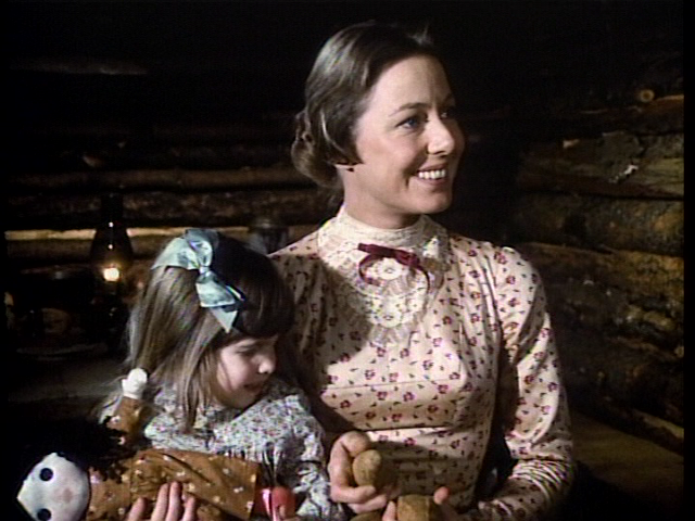 "Flowered calico dress worn by Ma Ingalls in ""Little House on the Prairie"""