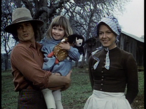 Charles and Caroline Ingalls with Baby Carrie Little House Dress