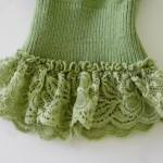 ruffled gathered lace at a sleeve end
