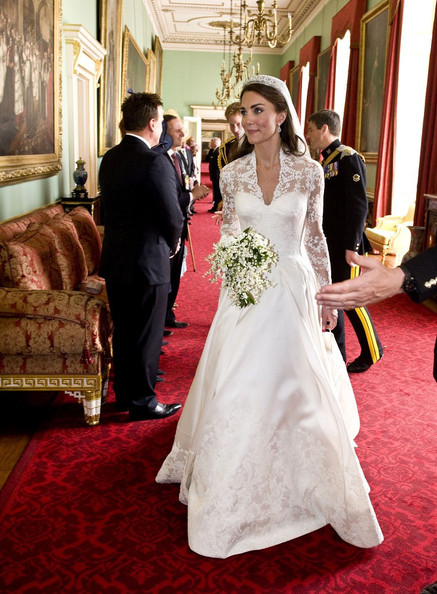 Princess Catherine's royal wedding dress buckingham palace