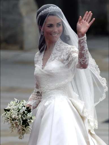How to make a wedding dress like princess catherine 39 s for Princess catherine wedding dress