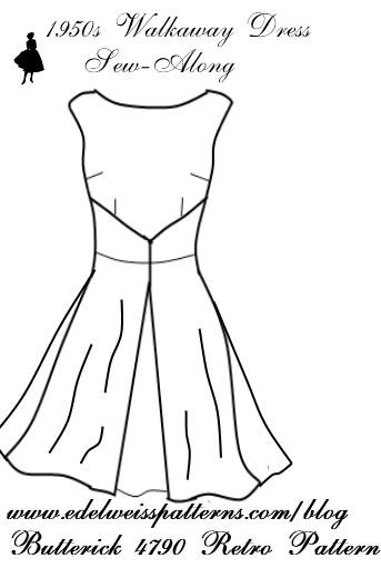 The 1950s Walkaway Dress Sew-Along | Edelweiss Patterns Blog