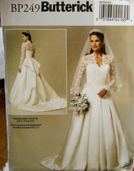 Butterick Royal Wedding Dress Pattern For Catherine's Gown Interesting Wedding Gown Patterns