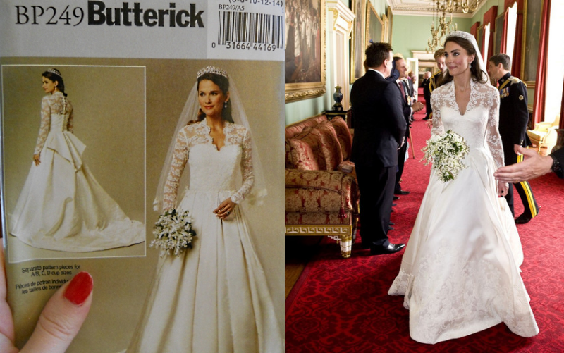 Butterick Royal Wedding Dress Pattern For Catherine's Gown ...