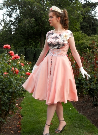 vintage-pink-1950s-party-dress