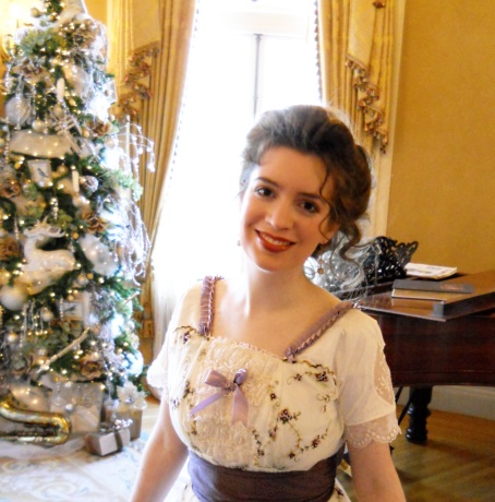 a-victorian-christmas-dress-in-an-elegant-parlor