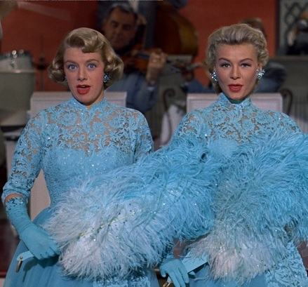 "white-christmas-film-costume-""sisters""-blue-dresses"