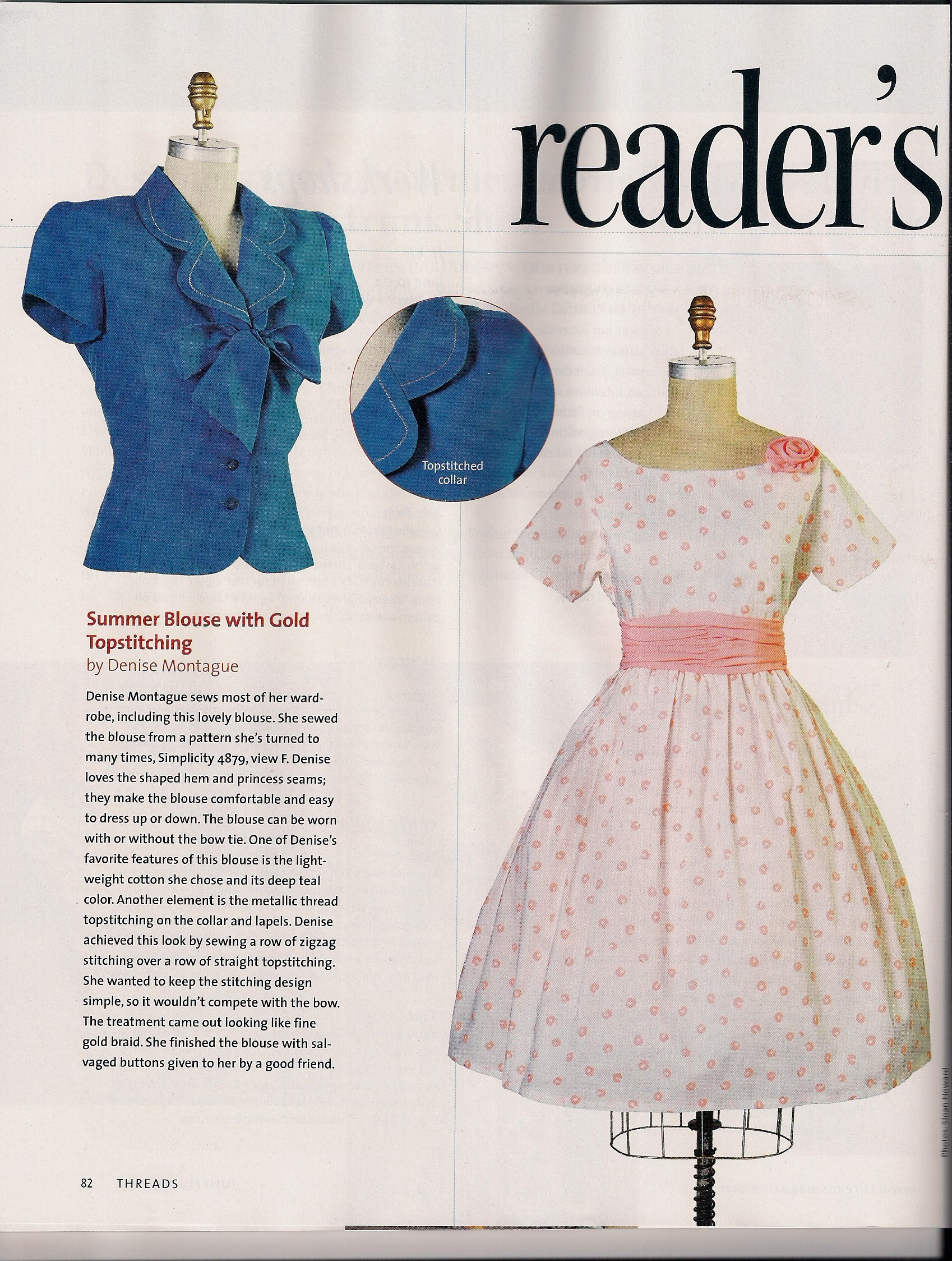 Two of my dresses in threads vogue patterns magazines this jeuxipadfo Image collections