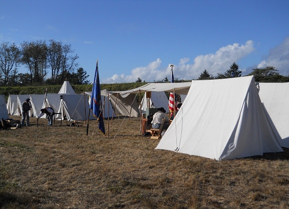 A few tents in the Union Camp...