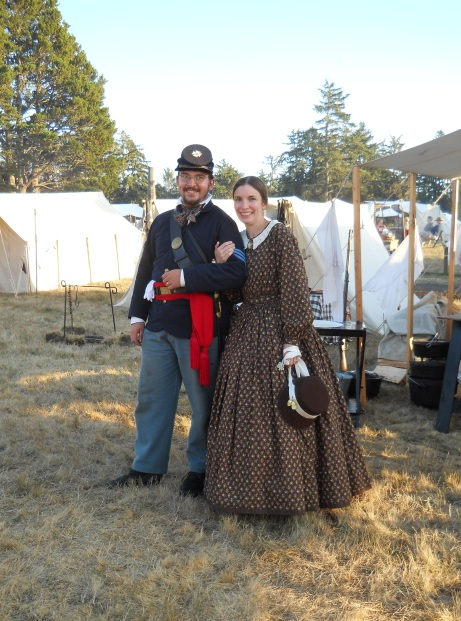 A very authentic Civil War couple!