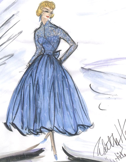 Sketch from Edith Head