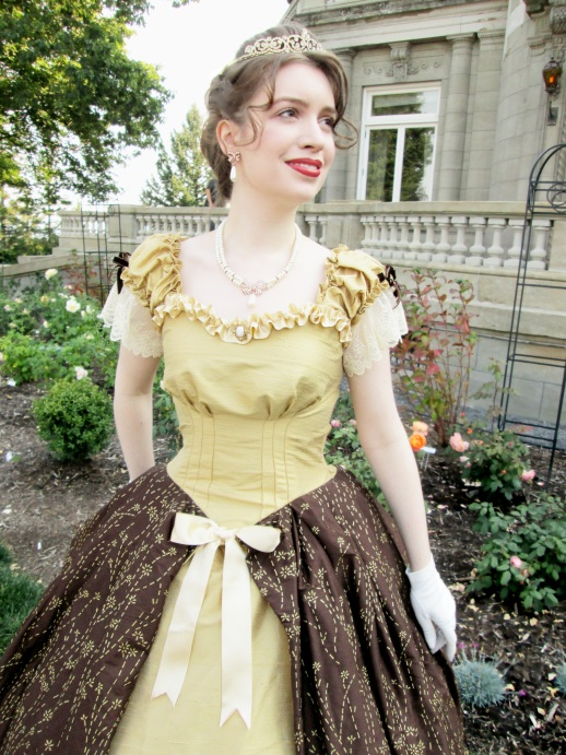 gold-ruffle-gown