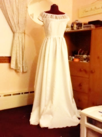 ~ Here was the gown shortly before it was hemmed. ~