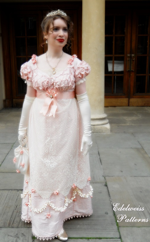 The Hand Sewn Silk Regency Ball Gown - Start To Finish | Edelweiss ...