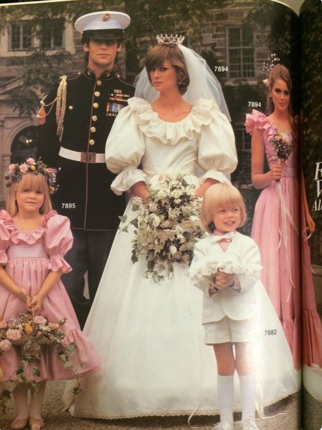 Royal wedding gowns through the decades edelweiss patterns blog royal wedding mccalls junglespirit Images