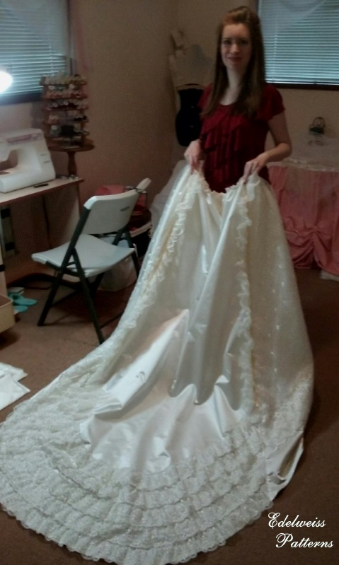 How I Sewed My Wedding Dress Edelweiss Patterns Blog
