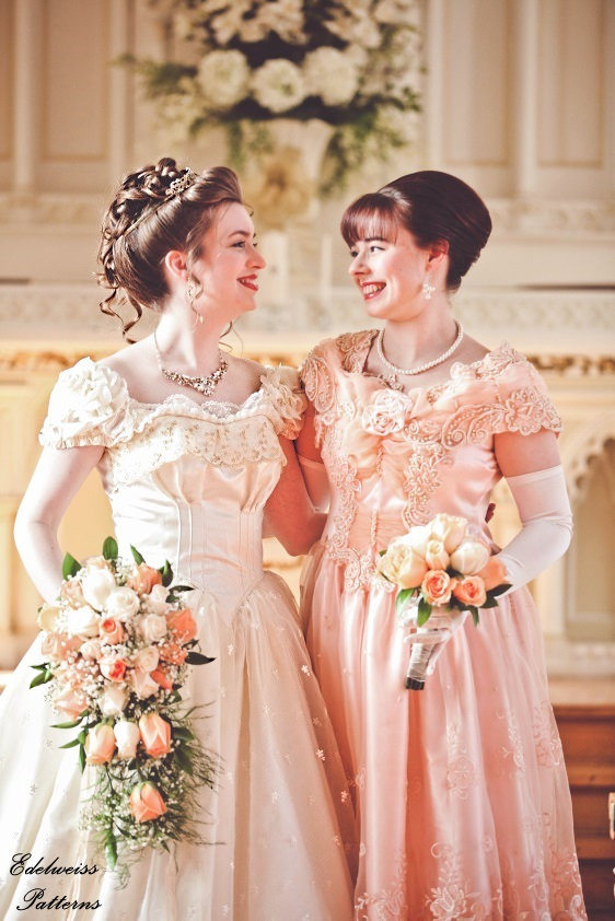 victorian-bride-bridesmaid
