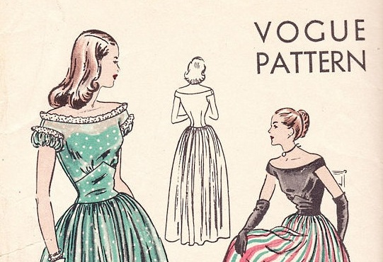 vintage-evening-gown-pattern