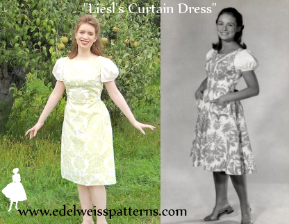 Sound of Music-Von Trapp Family-Curtain Clothes VON TRAPP CURTAIN DRESS All Ages